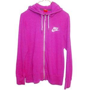 Nike Pink Fuchsia Zip Jacket Hoodie Running xl
